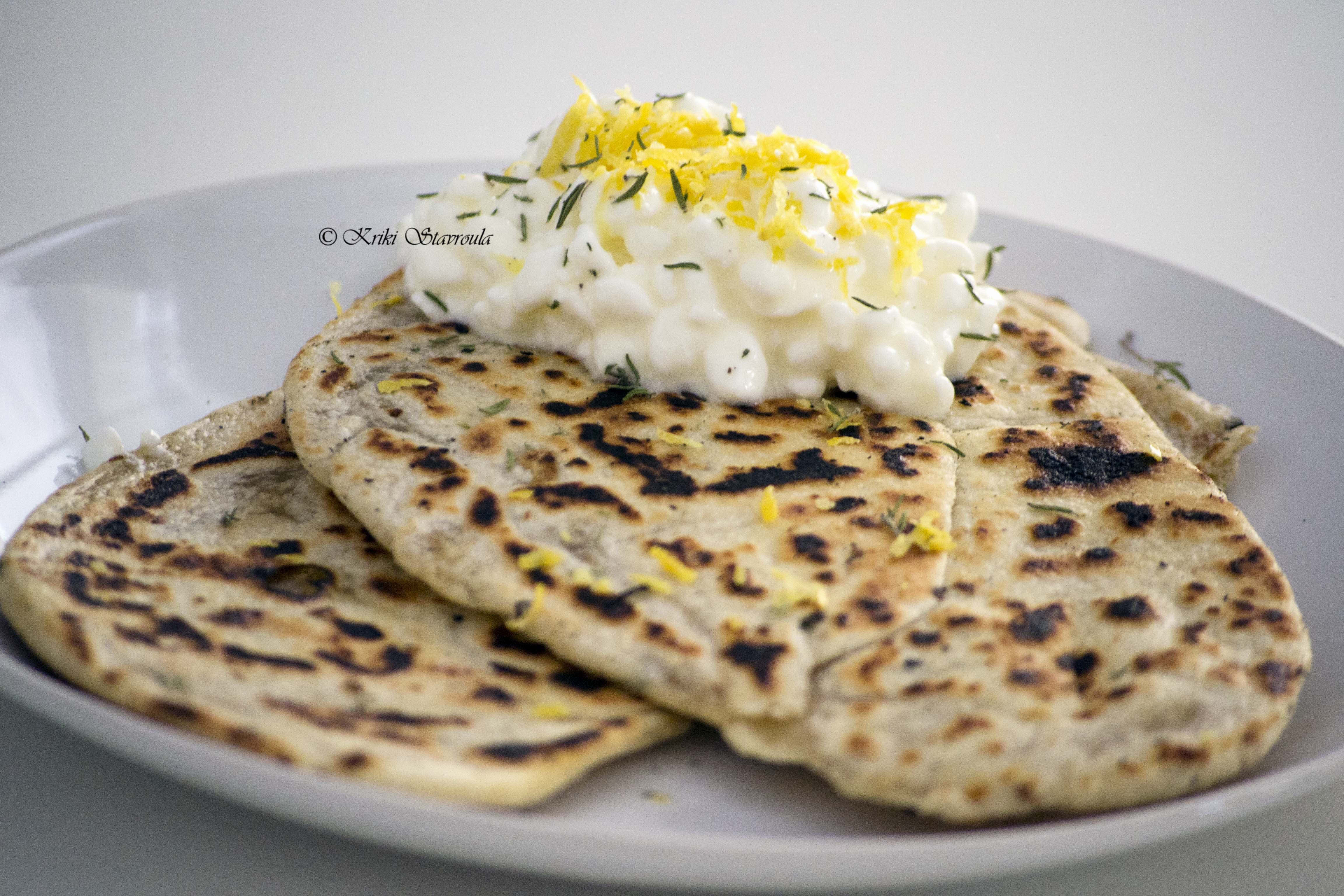 Flatbreads with Lemon Thyme and Ricotta